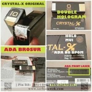 Crystal X Double Hologram (Berhologram Emas) Original Dikupas Nampak Sarang Laba-Laba