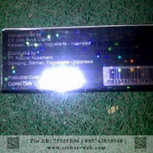 Termurah Crystal X Double Hologram (Berhologram Emas) Original Dikupas Nampak Sarang Laba-Laba