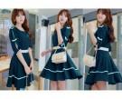Dress Navy Motif
