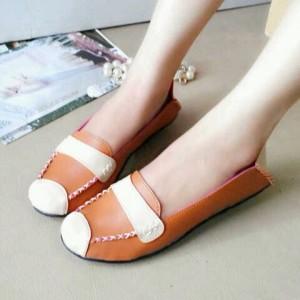 Sandal Cewek Wanita Flat Shoes Biskuit DD62