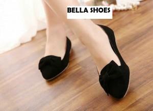Dijual Bella Flat Shoes / Sepatu Flat Bella Murah Warna Hitam