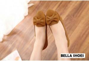 Dijual Bella Flat Shoes / Sepatu Flat Bella Paling Murah Warna Coklat