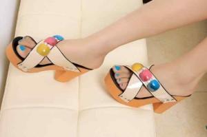Heels Blossom Sandal Cewek Trendy