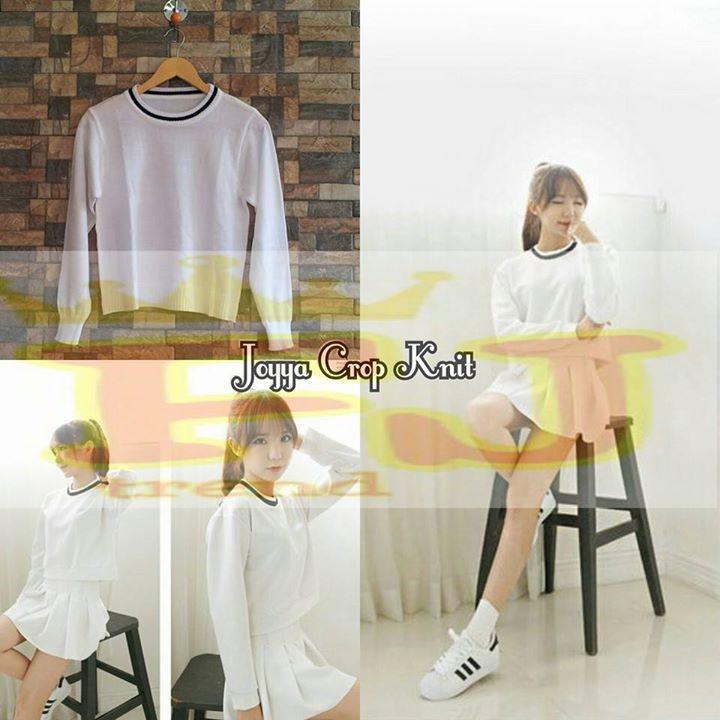 Dijual Joyya Crop Knit Tangan Pertama Gambar 1