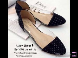 Ladies Flat Shoes Sepatu Cewek Hitam – Opp36