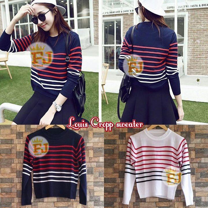Dijual Louis Crop Sweater Ecer Gambar 1