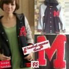 Jaket Cewek Beautiful M Baseball Sweater Fleece