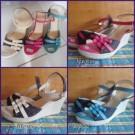 Wedges Triple Sandal Wanita Terbaru