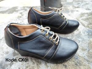 Boots Wedges CX01 Sepatu Cewek Trendy