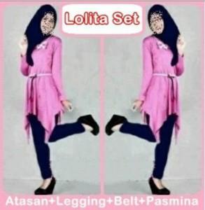 Lolita Set Muslim Tangan Panjang