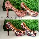 Sepatu High Heels New Polkadot