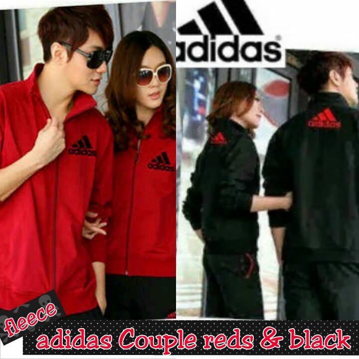Grosir Adidas Couple Reds & Black  Berkualitas Gambar 1