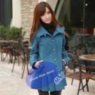 Blue Denim Blazer Cewek Biru