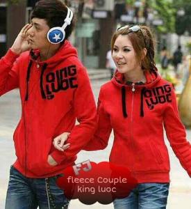 Couple Qingluoc Merah Jaket Trendy Remaja