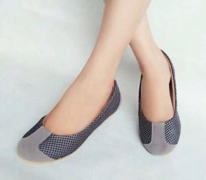 Grosir Flat Shoes Jaring Abu LKY37 Terbaru