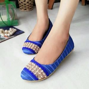 Sepatu Cewek Wanita Flat Shoes Mutiara LKY38