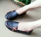 Flat Shoes US49 Sepatu Cewek Hitam
