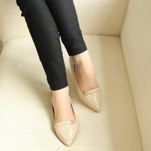 Sepatu Cewek Wanita Flat Shoes  Glossy FB02