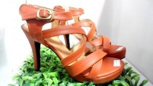 High Heels WA01 / Sepatu Heels Tali Wanita Warna Coklat