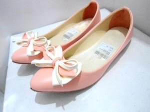 Grosiran Flat Shoes RP012 / RP12 Berkualitas Warna Peach