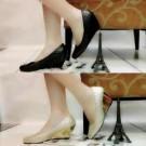 Wedges Butter Hitam Cream Sepatu Kerja