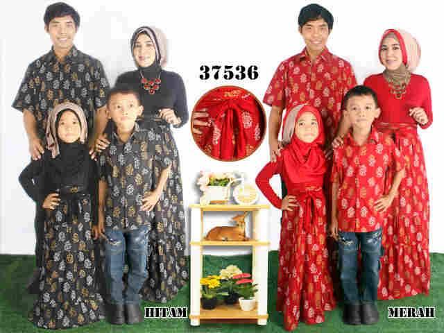 Jual Murah 37536 Couple Family Ibu + Ayah + 2 Anak Hitam Merah Paling Murah Foto 1