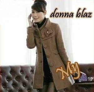 Donna Blazz Blazer Cewek Coklat