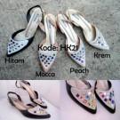 Jelly Shoes Heels HK21 / HK021 Sepatu Cewek Trendy Kekinian