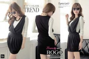 Trend Cewek Jumper Dress inner Terpisah Beautiful