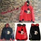 Mickey Mouse Kedip Jaket Cewek Merah Hitam