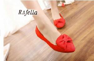 Kulakan Bella Flat Shoes / Sepatu Flat Bella Terbaru Warna Merah