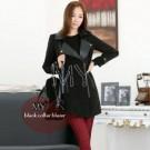Black Collar Blazer Cewek