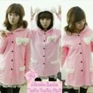 Blazer Fleece Hoodie Pink