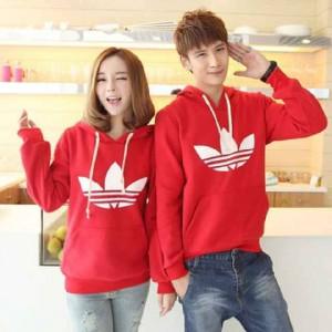 Couple Sweater Adidas Red Remaja Trendy