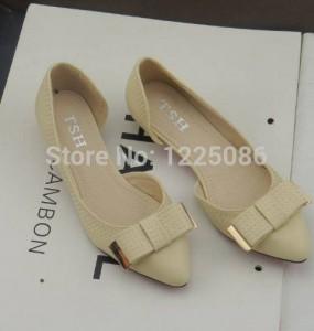 Flat Shoes Sepatu Cewek OP03 Cream