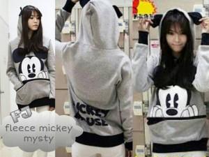 Jaket Cewek Gray Beautiful Fleece Mickey Misty
