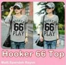 Hooker 66 Top Spandex Rayon Baju Atasan Cewek