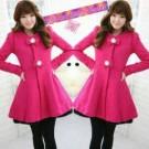 Ribbon Fleece Blazer Cewek Pink
