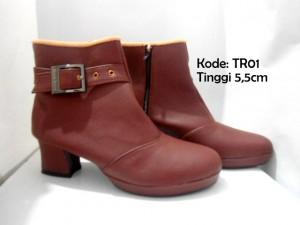 Ankle Boots TR01 Heels Wanita Terbaru Trendy