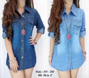 Casandra Jeans Kemeja Cewek Fashionable