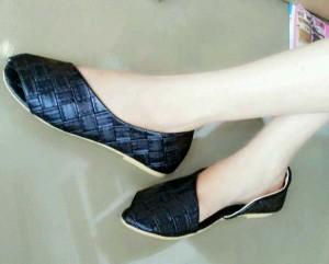 Sepatu Cewek Wanita Flat Shoes Daun SB02