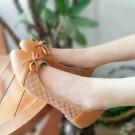 Flat shoes Ribbon Opp38  Flat Sepatu Pita Coklat