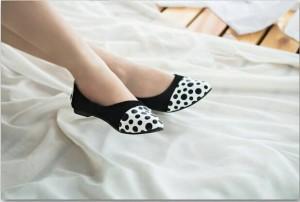 flat shoes suede Sepatu Cewek RP03 Hitam