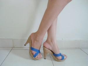 Sandal Heels Diana Coklat Biru Hijau Trendy