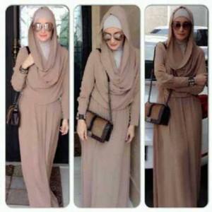 Dress Cewek Muslim SALE original POP UP INNEKE HOODIE