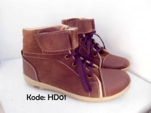 Sepatu Wanita HD01 Boots Trendy Cewek Kekinian