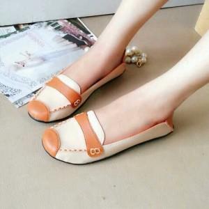 Pusat Flat Shoes Biskuit Cream / Sepatu Flat DD62 Paling Murah