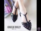 Sepatu Sandal Cewek Wanita Flat Shoes Studded Myn35