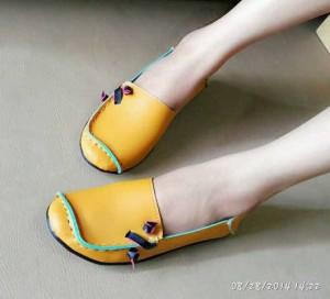 Flat Shoes US49 Sepatu Cewek Orange