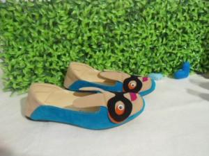 Flatshoes BUNNY Sepatu Cute Wanita Biru